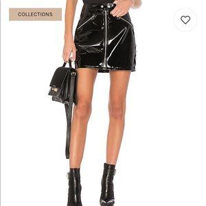 Rag & Bone Racer Skirt Patent Leather